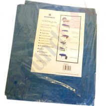 4'x6' Marksman Tarpaulin Waterproof Blue Heavy Duty Laminated Woven Polyethylene