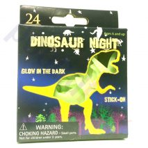 Glow In The Dark / Night Stick-On Dinosaurs or Moon-Stars Shapes 24 pcs per Pack