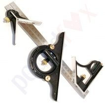 """12"""" Combination Square Set with 180° Protractor 8 Tools in 1, Carpentry"""