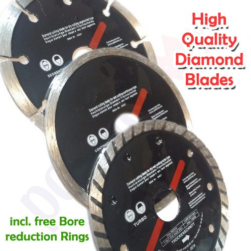 "3x Diamond Cutting Blades Set 4.5""/115mm Beton-Brick-Concrete-Ceramic-Marble"