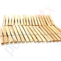 36 Strong Solid Wooden Clothes PEGS Weather Resistant Pine Clips