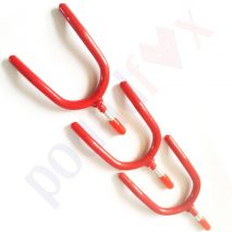 3 TOOL hanging HOOKS storage Anti-slip red PVC coated Wall hanger Brackets