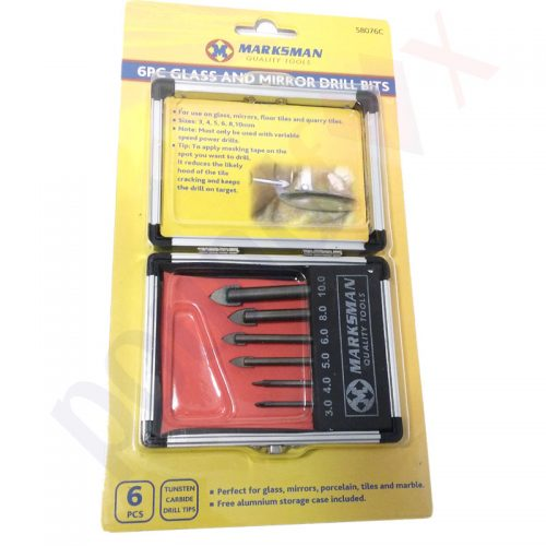 6pcs Drill Bit Set for Glass, Mirror, Tiles, Marble, Porcelan etc.