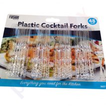 Cocktail Fork Plastic Disposable Clear Picker