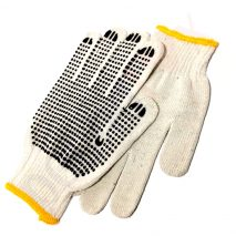 Work Gloves Single Side Rubber Dotted