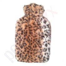 Hot Water Bottle with Leopard Design Fur 2 Litre
