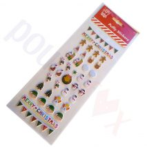 38pc Christmas Stickers - Puffy Label 3D Bubble Sticker
