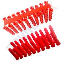 Uploaded To6.5mm Red Wall Plugs Strong High Quality Plastic