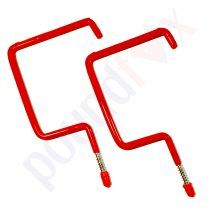 Large Utility Hooks storage Red PVC Coated Wall Brackets