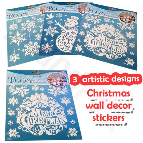 Merry Christmas Wall Stickers Room decor 3 beautiful designs