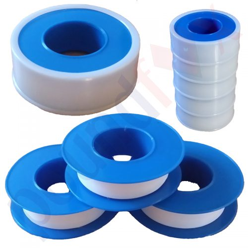 10 Metre Rolls White Plumbers PTFE Tape 12mm