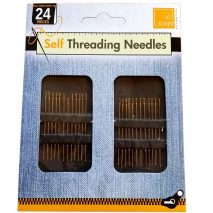 Easy SELF THREADING Needles 24 Pack For Hand Sewing