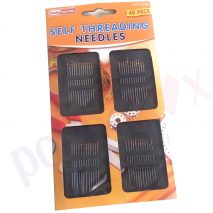 Self Threading Needles 48 Pack Assorted Sizes Hand Sewing