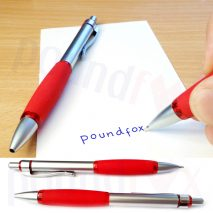 2 x Blue Ball Point Pens With Red Soft Grip